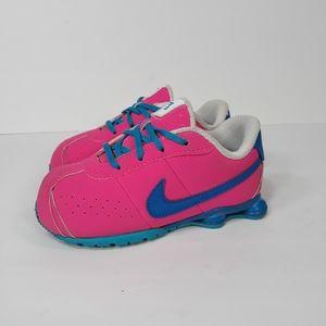 Nike Shox Girls Pink Blue toddler Sneakers Sz 9C